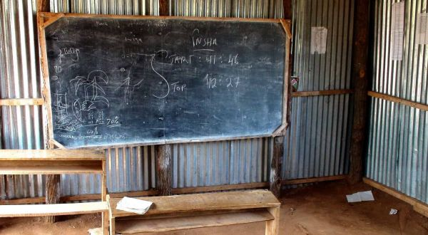Education in Somaliland - featured and header image of chalkboard