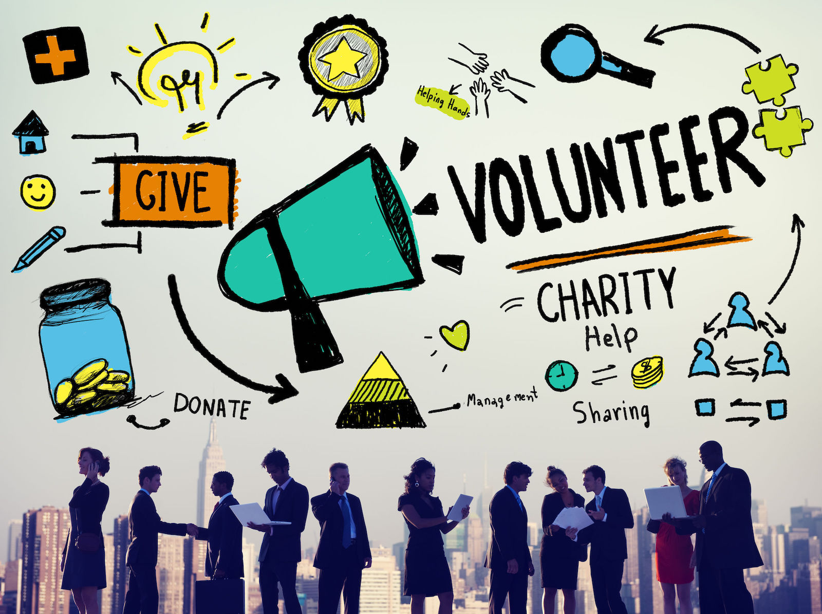 42955768 - volunteer charity help sharing giving donate assisting concept